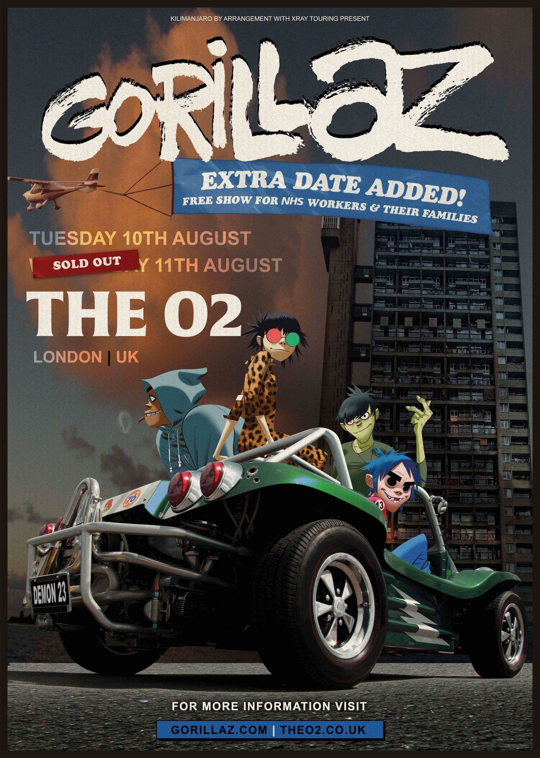 Gorillaz - The O2 Poster